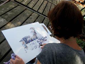 Daniela beim Malen